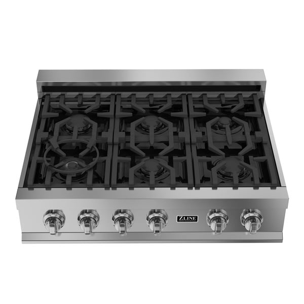 Shop Zline 36 In Ceramic Rangetop With 6 Gas Burners