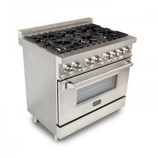 ZLINE 36 in. 4.6 cu. ft.6 Gas Burner/Electric Oven Range in Stainless Steel (E36-60)