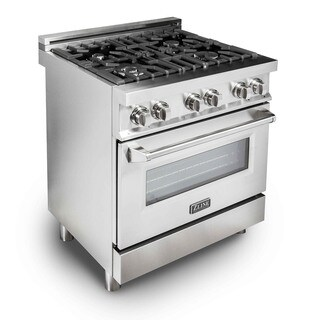 ZLINE 30 in. 4.0 cu. ft. 4 Gas Burner/Electric Oven Range in Stainless Steel (E30-40)
