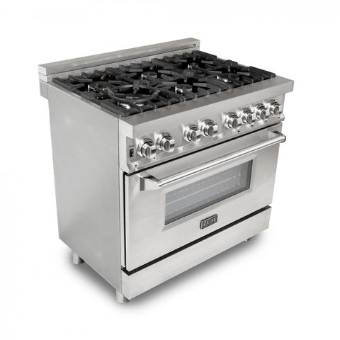 ZLINE 36 in. 4.6 cu. ft.6 Gas Burner/Electric Oven Range (RA36)