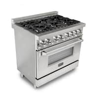 ZLINE 36 in. 4.6 cu. ft. 6 Gas Burner/Electric Oven Range (RA36)