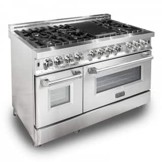 ZLINE 48 in. 6 cu. ft.8 Gas Burner/Electric Oven Range in Stainless Steel (RA48) https://ak1.ostkcdn.com/images/products/17178331/P23439598.jpg?impolicy=medium