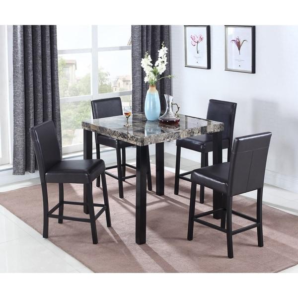 Shop Best Master Furniture Weathered Oak Sleigh: Shop Best Master Furniture CD037 5 Piece Counter Height