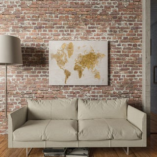 Yosemite Home Decor Gold Map Original Hand-Painted Wall Art