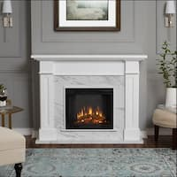 Kipling Electric Fireplace White Marble by Real Flame