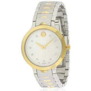 Movado Luno Stainless Steel Ladies Watch 0607056