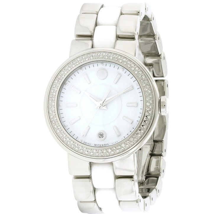 Movado Cerena Stainless Steel Diamond Ladies Watch 060662...
