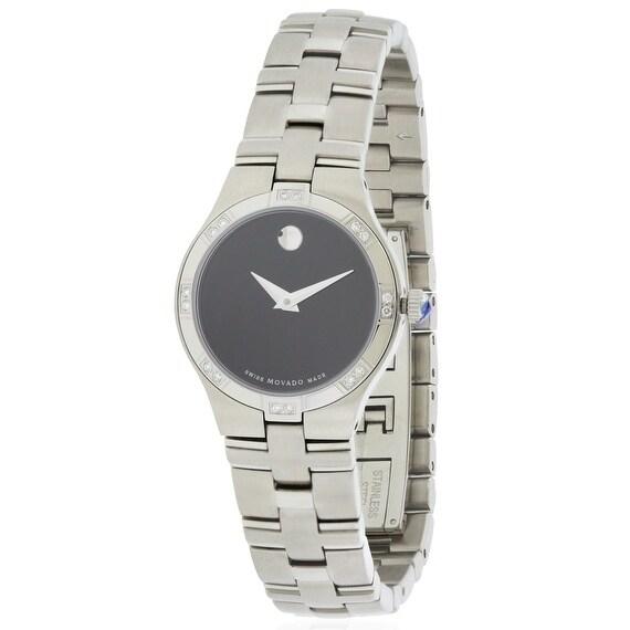 Movado Juro Ladies Watch 0605032, Black, Size One Size Fi...