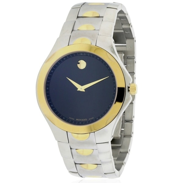 3097dad8335 Shop Movado Luno Two-Tone Mens Watch 0606906 - Free Shipping Today -  Overstock - 17178438