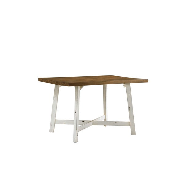 White And Brown Dining Table: Shop Standard Furniture Amelia Brown And White Wood 5