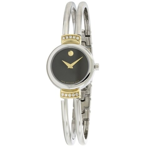 Movado Diamond Bezel Stainless Steel Ladies Watch 0606240...