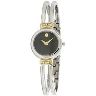Movado Diamond Bezel Stainless Steel Ladies Watch 0606240