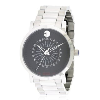 Movado Red Label Automatic Stainless Steel Mens Watch 0606698