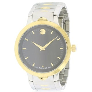 Movado Luno Two-Tone Stainless Steel Mens Watch 0607043