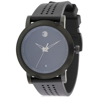Movado Museum Sport Black Rubber Mens Watch 0607038