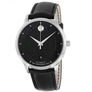 Movado 1881 Automatic Leather Mens Watch 0606873