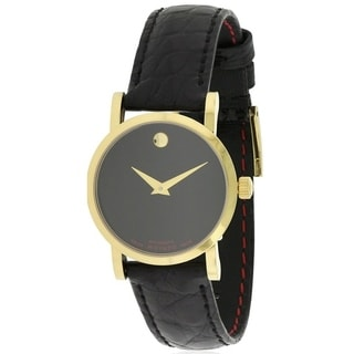 Movado Red Label Leather Automatic Ladies Watch 0607010