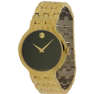 Movado Veturi Goldplated Stainless Steel Mens Watch 0606934