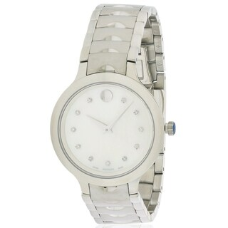 Movado Luno Stainless Steel Ladies Watch 0607055