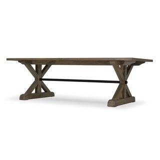 Trestle Provincial Cross Leg Dining Table - salvage grey