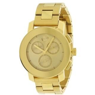 Movado Bold Gold-Tone Chronograph Unisex Watch 3600358