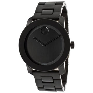 Movado Bold Large Black Polymer Mens Watch 3600047