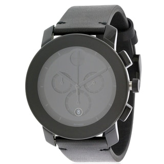 Movado Bold Leather Chronograph Mens Watch 3600337