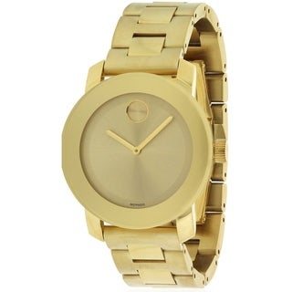 Movado Bold Gold-Tone Unisex Watch 3600085