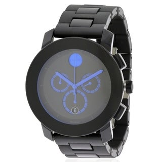 Movado Bold Steel And Rubber Large Unisex Watch 3600101