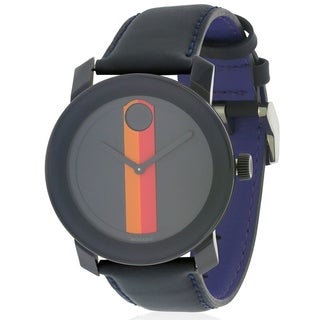 Movado Bold Leather Unisex Watch 3600231