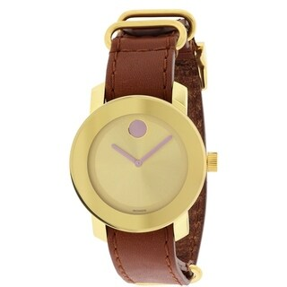 Movado Bold Leather Unisex Watch 3600363