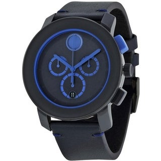 Movado Bold Leather Chronograph Mens Watch 3600349
