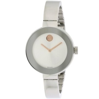 Movado Bold Stainless Steel Bangle Ladies Watch 3600194