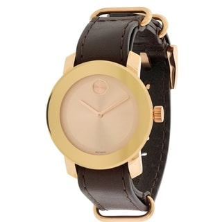 Movado Bold Leather Unisex Watch 3600364