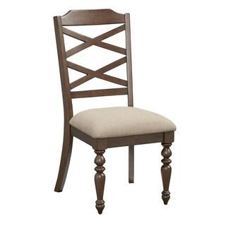 Larson Cherry Rubberwood Side Chairs (Set of 2)