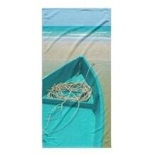 Kavka Designs Blue/Sand/Beige To Sea Beach Towel