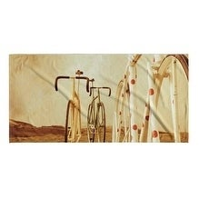 Kavka Designs Brown/Tan/Red/Ivory Ride On Beach Towel
