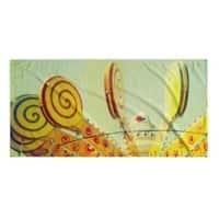 Kavka Designs Green/Yellow/Blue Lollypop Love Beach Towel