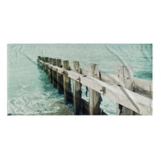 Kavka Designs Blue/Ivory/Green Jetty Beach Towel