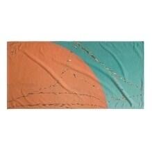 Kavka Designs Orange/Blue Grand Orange Beach Towel