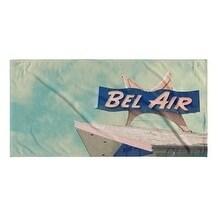 Kavka Designs Blue/White Bel Air Motel Beach Towel