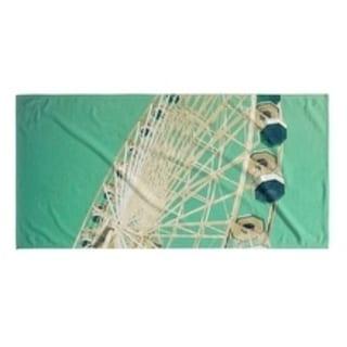 Kavka Designs Blue/White Big Green Beach Towel