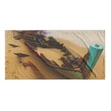 Kavka Designs Blue/Sand/Tan Stranded Beach Towel