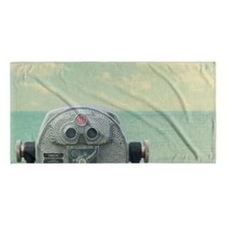 Kavka Designs Blue/Grey/Red Way Out There Beach Towel