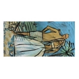 Kavka Designs Blue/Green Mr. and Mrs. Beach Cuteness Bath Towel