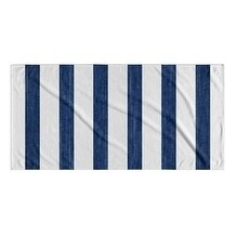 Kavka Designs Blue/White Mashpee Beach Towel