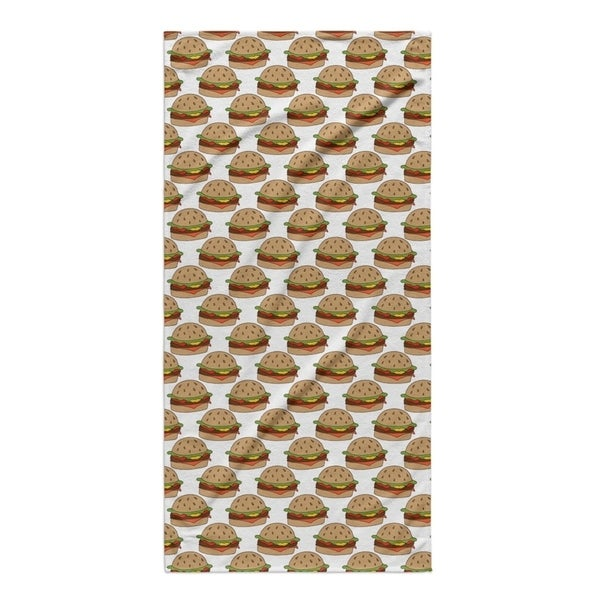 Kavka Designs Brown/White/Red Bbq Beach Towel
