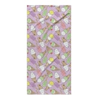 Kavka Designs Purple/Green/Pink Ice Cream Beach Towel