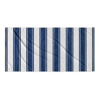 Kavka Designs Blue/White Nautical Stripe Beach Towel