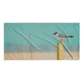Kavka Designs Blue/Tan/Teal/Grey Seaside Beach Towel (Option: Wildlife)